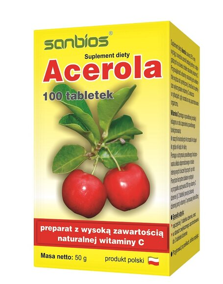 Acerola 100 tabletek Sanbios
