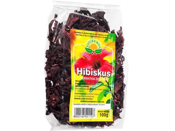 Hibiskus herbatka ziołowa 100g Natura Wita